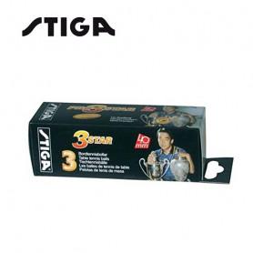 Balle de ping pong STIGA 3 Star Blanc
