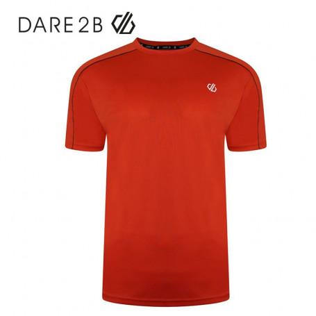 Tee-shirt Dare 2B Discernible Rouge Orangé Homme