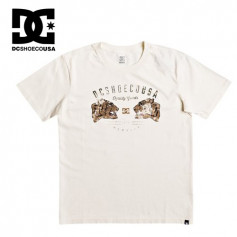 T-shirt DC SHOES Surrender Never SS Crème Garçon
