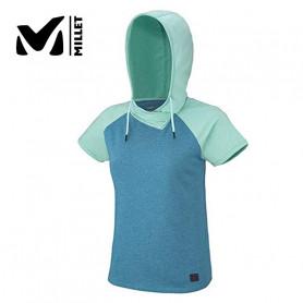 T-shirt MILLET Mada Roc Hoodie Bleu Femme