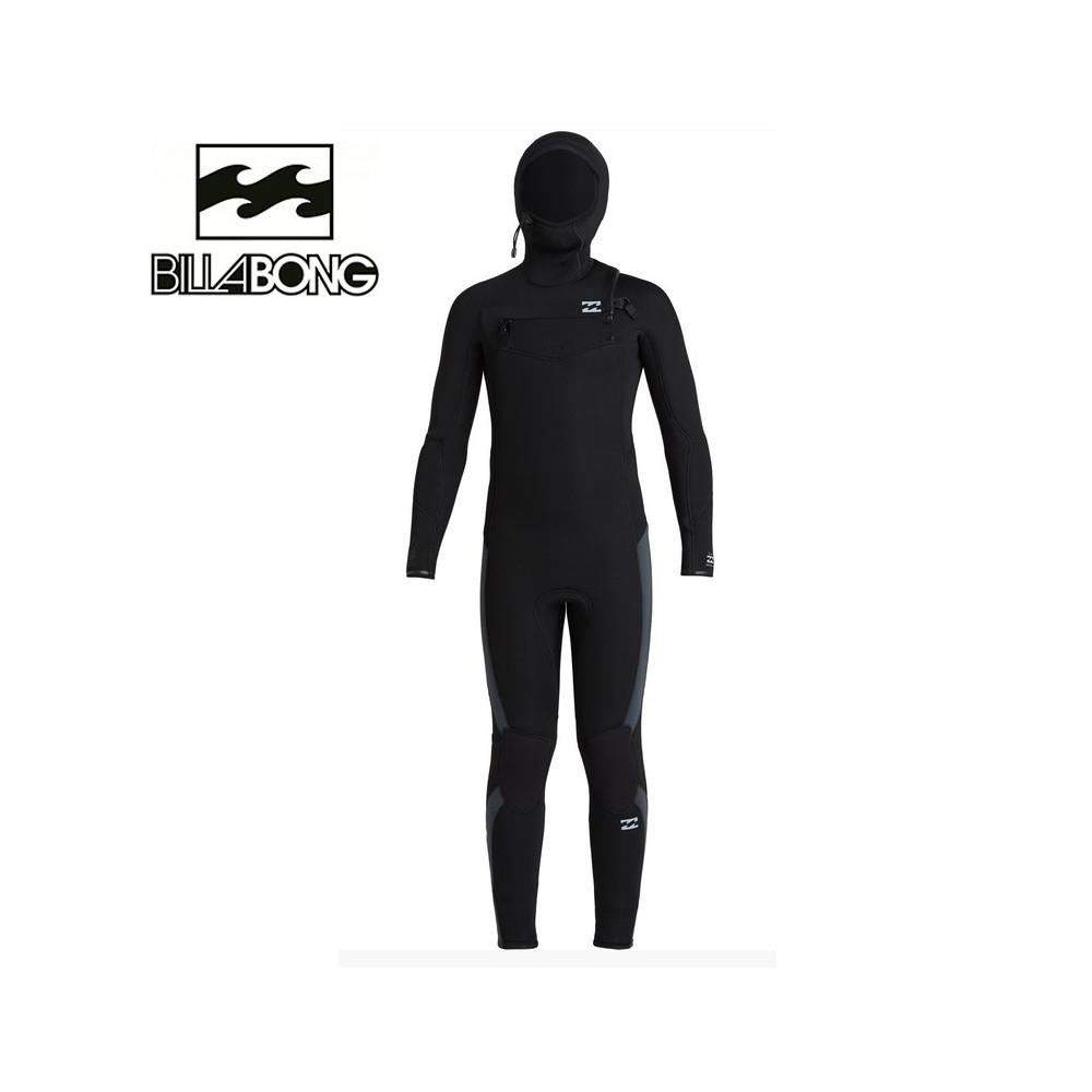 Combinaison de surf BILLABONG Furnace Absolute Hooded Noir Junior