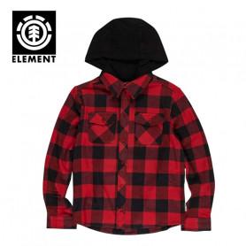 Chemise ELEMENT Tacoma Hood Rouge / Noir Junior