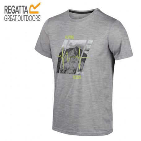 Tee-shirt de randonnée REGATTA Fingal V Gris Homme