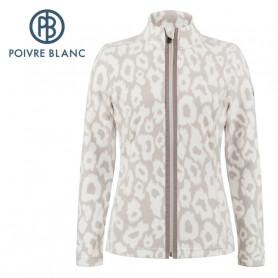 Veste polaire POIVRE BLANC W20-1500 WO Crème Femme