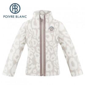 Veste polaire POIVRE BLANC W20-1500 BBGL Crème Fille