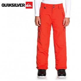 Pantalon de ski QUIKSILVER Porter Orange Junior