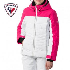 Doudoune de ski ROSSIGNOL Girl Polydown Pearly Rose / Blanc Fille