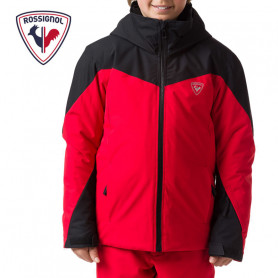 Veste de ski ROSSIGNOL Boy Fonction Jacket Noir / Rouge Garçon