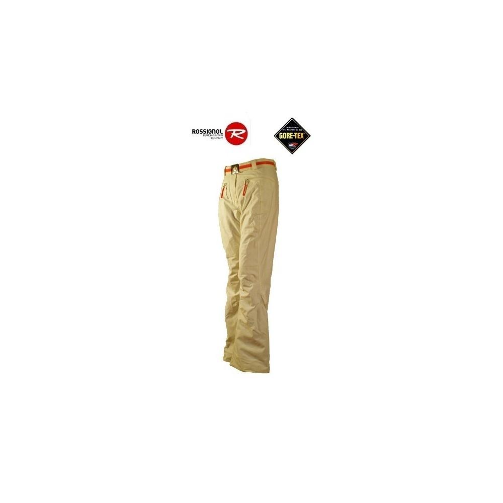 pantalon de ski gtx rossignol jjc full snow blanc femme sport a tout prix. Black Bedroom Furniture Sets. Home Design Ideas