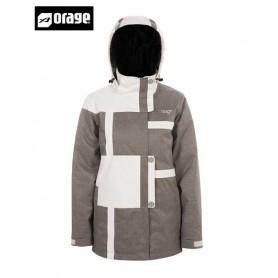 Veste de ski ORAGE Bellevue Blanc gris Femmes