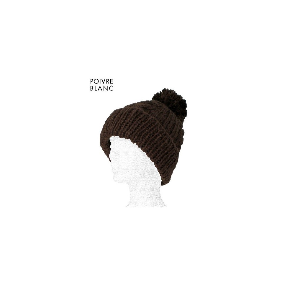 Bonnet de ski POIVRE BLANC Joxi Chocolat Femme