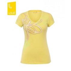 Tee-shirt LOLE Flower Lime Femme