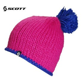 Bonnet de ski SCOTT Wully Bully Rose / Bleu Junior