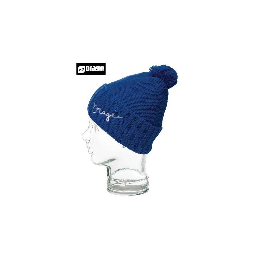 Bonnet à pompon ORAGE Jr Baffin beanie liberty blue