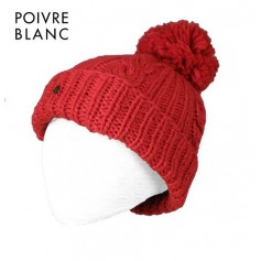 Bonnet de ski POIVRE BLANC Lyne Rouge BB Fille