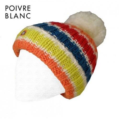 Bonnet de ski POIVRE BLANC Luc Multicouleur Ecru Bébé (G)