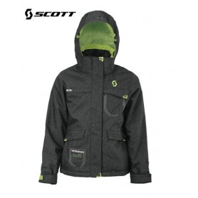 Veste de ski SCOTT Crystaline blue denim Filles