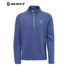 Maillot technique SCOTT 1/2 Zip TWO2 Bleu Homme