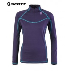 Maillot technique SCOTT 1/4 Zip 2ZRO Violet Femme