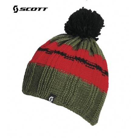 Bonnet de ski SCOTT Skywalker Vert / Rouge Junior
