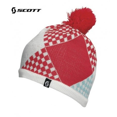 Bonnet de ski SCOTT Patchwork Blanc / Geranium Junior