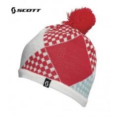 Bonnet de ski SCOTT Patchwork Blanc / Geranium Fille