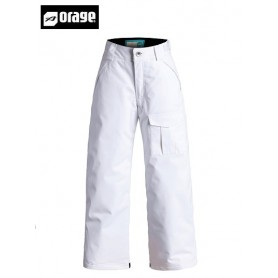 Pantalon de ski ORAGE Junior Tassara white fille