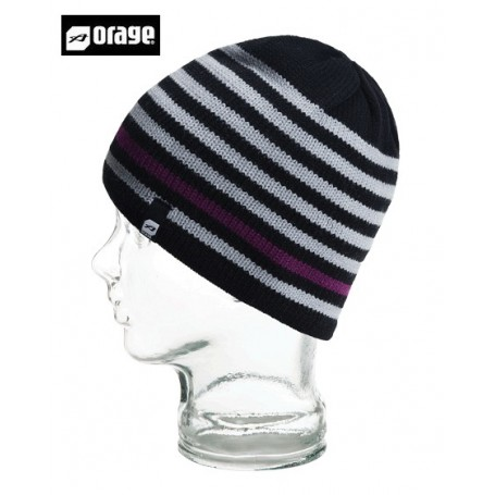 Bonnet de ski ORAGE Chill Beanie Noir Garçon