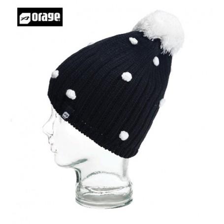 Bonnet de ski ORAGE Curtain Beanie Noir Filles