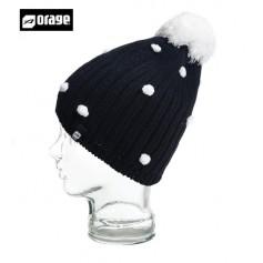 Bonnet de ski ORAGE Curtain Noir Filles