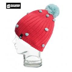 Bonnet de ski ORAGE Curtain Beanie Rouge Filles