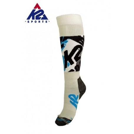 Chaussettes de ski K2 All Terrain Blanc Femmes