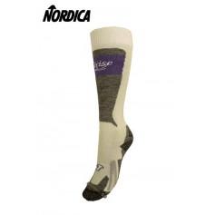 Chaussettes de ski NORDICA Cruise Blanc/violet Femmes