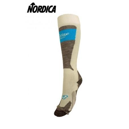 Chaussettes de ski NORDICA Cruise Blanc/bleu Femme