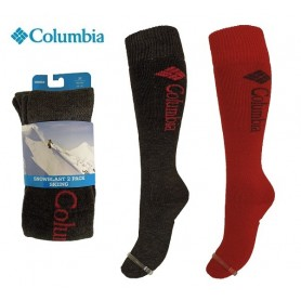 Chaussettes de ski (Pack x2) COLUMBIA Snowblast Anthra/Red