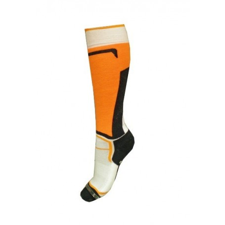 Chaussettes de ski SKI SOCKS Noir/orange Unisexe