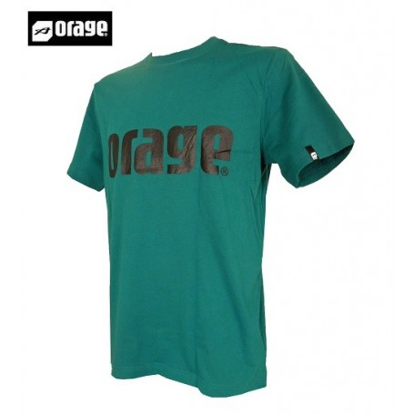 431c12cb7f836 T-shirt ORAGE Basic Vert Hommes Agrandir l'image
