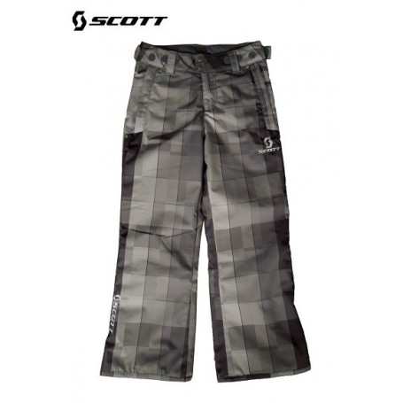 Pantalon de ski SCOTT Slope blackbloc plaid enfants