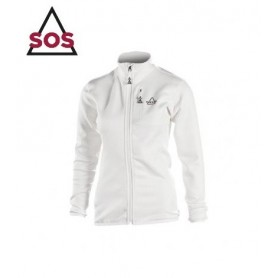 Maillot technique Stretch SOS Axis Fullzip Ecru Femmes