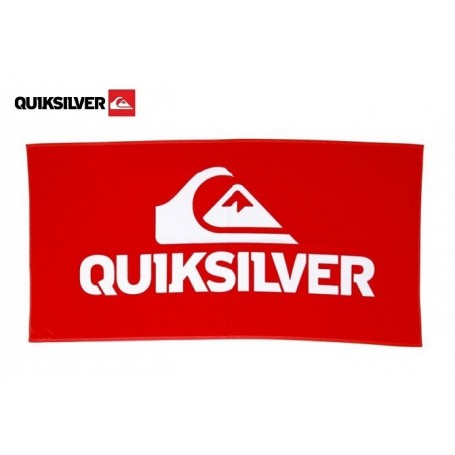 Serviette de plage QUIKSILVER Be Good Rouge Unisexe