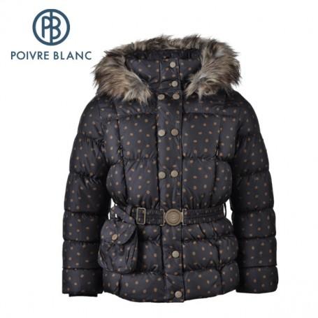 Doudoune POIVRE BLANC W13-1208 BBGL/A Noir BB Fille