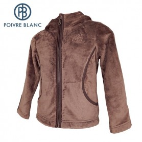 Polaire POIVRE BLANC Long Pile Fleece Jkt Noisette BB Fille