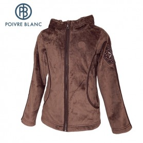 Polaire POIVRE BLANC Long Pile Fleece Jkt Noisette Fille