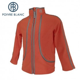 Polaire POIVRE BLANC One Side Fleece Jkt Orange BB Fille