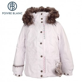 Veste de ski POIVRE BLANC Long Jkt Blanc BB Fille