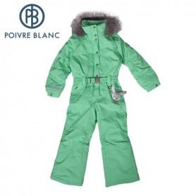 Combinaison de ski P. BLANC Overall Menthe BB Fille (Real fur)