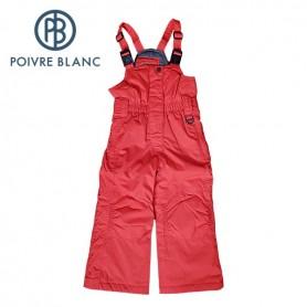 Salopette de ski POIVRE BLANC Bippants Rouge BB Fille