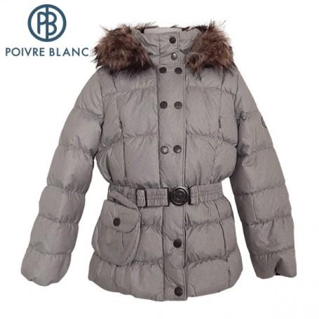 Doudoune POIVRE BLANC W13-1208 BBGL/A Argent BB Fille
