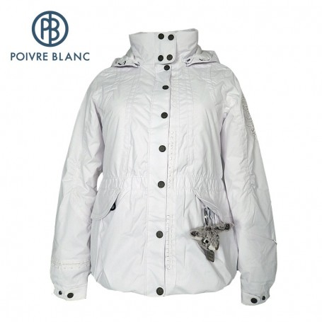 Veste de ski POIVRE BLANC Short Jkt Blanc Filles