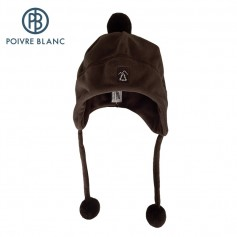Bonnet polaire péruvien POIVRE BLANC Vison BB Garcon